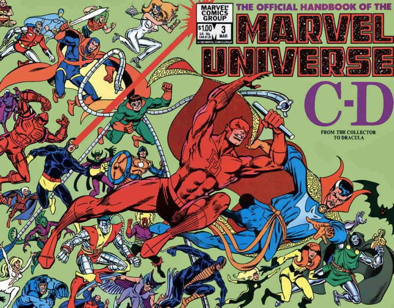 Official Handbook of the Marvel Universe (Vol. 1) #3 VF/NM; Marvel | save on shi