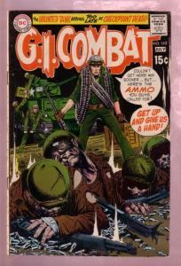 G.I. COMBAT #142 1970- THE HAUNTED TANK-JOE KUBERT ART VG/FN