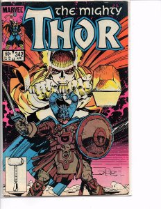 Marvel Comics The Mighty Thor #342 Eilif the Lost Walt Simonson Story and Art