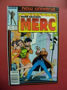 MARK HAZZARD: MERC #4   (9.0 to 9.4 or better)  MARVEL COMICS