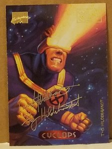 1994 Marvel Masterpieces Gold Foil Signature Series #25 Cyclops/Hildrebrandt