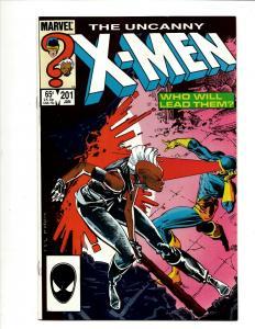Uncanny X-Men # 201 NM Marvel Comic Book Wolverine Wendigo Storm Cyclops DS4