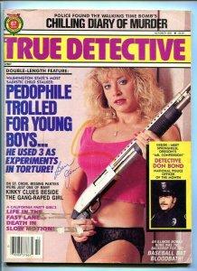 TRUE DETECTIVE-10/1991-BOMBS-MURDER-BASEBALL BLOODBATH-TORTURE VG/FN