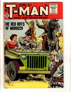 T-Man # 27 VG/FN Quality Comic Book World Wide Trouble Shooter Desert JL16