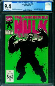 INCREDIBLE HULK #377-CGC 9.4 1st Professor Hulk-unpressed 2014539005