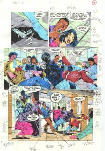 TEEN TITANS #7-PRODUCTION ART-COLOR GUIDE PG 4-JIMINEZ VG