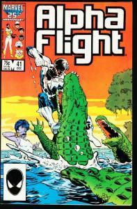 ALPHA FLIGHT #41-MARVEL COMICS-CROCODILE COVER NM