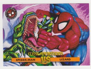 1996 Fleer Ultra Spider-Man Premium #39 Spider-Man vs Lizard