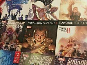 SQUADRON SUPREME#1-15 VF/NM LOT 2015 MARVEL COMICS