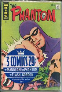 King Comics 3 Pack #1 1966-Flash Gordon #5-Phantom #22-Mandrake #5-VF