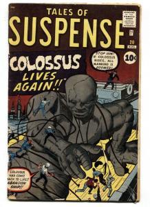 Tales of Suspense #20 1961- Pre Hero Marvel- Kirby-COLOSSUS  comic book