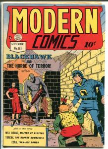Modern #101 1950-Quality-Blachawk-Torchy-Reed Crandall-penultimate issue-VG+