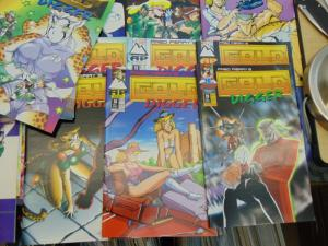 33 Fred Perry Gold Digger AP Antarctic English Manga Furry Comic Books 1-20 1992