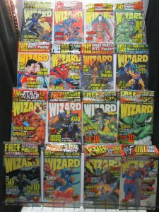 Wizard Magazine Lot of 22Diff from 1995 to 1999 Sealed with Goodies Extreme!