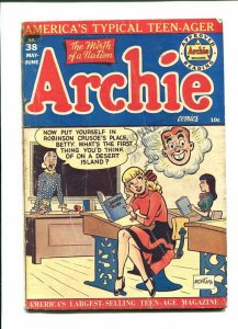 ARCHIE 38-1949-CLASSROOM COVER-READING ROBINSON CRUSOE  G/VG
