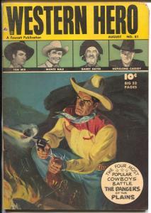 Western Hero #81 1959-Fawcett-Tom Mix-Gabby Hayes-Bill Boyd-Saunders-VG