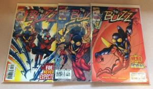The Buzz 1-3 Complete Near Lot Lot Set Run Spider girl