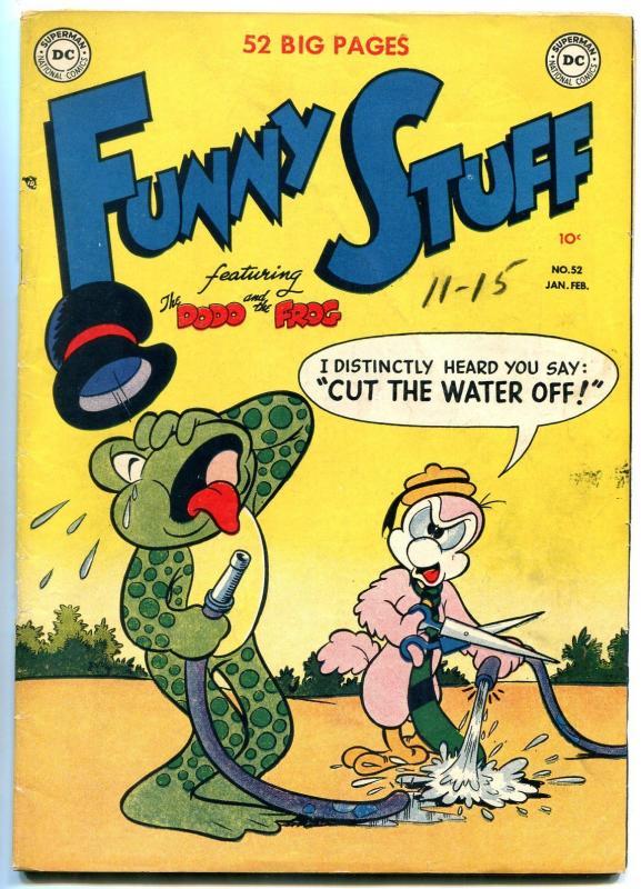 Funny Stuff #52 1950- DC Funny Animals- Dodo & Frog- Bo Bunny F/VF