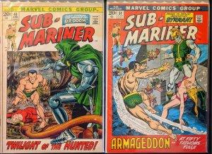 Sub-Mariner #48 and #51(1972) HIGH GRADE COPIES!