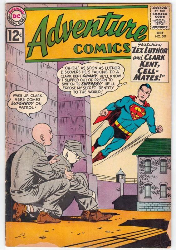 Adventure Comics #301 (Oct-62) VG+ Affordable-Grade Superboy, Legion of Super...