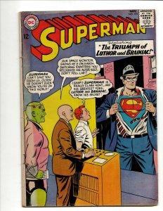 Superman # 173 FN- DC Comic Book Braniac Lex Luthor Smallville Batman Flash BJ1