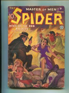 The Spider Pulp September 1935- King of the Red Killers VG+