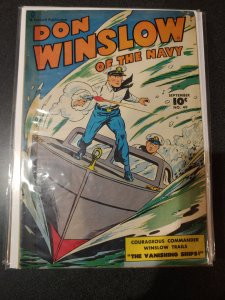 DON WINSLOW OF THE NAVY #49 BOXING STORY CAPT TOOTSIE VF-