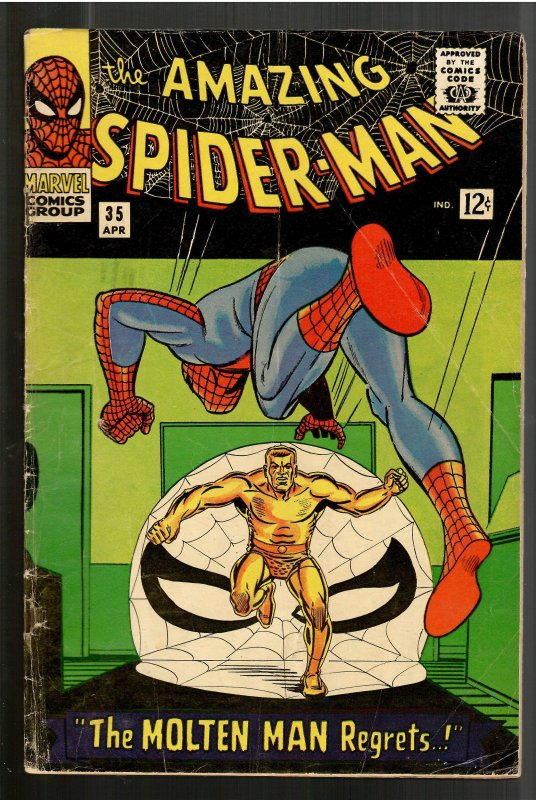 AMAZING SPIDERMAN 35 VG 4.0 2nd APP. MOLTEN MAN-STRUCTURALLY NICER!