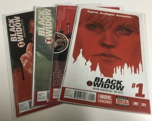 Black Widow 1 2 3 4 Vf Very Fine 8.0 Marvel Comics
