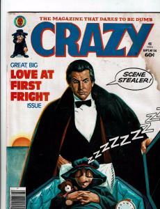 Crazy # 54 Magazine Marvel Comic Book VG Dracula Parody Comedy Vampire J146