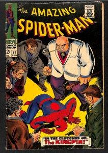 Amazing Spider-Man #51 VG- 3.5 2nd Kingpin! Marvel Comics Spiderman