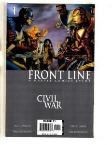 12 Comics Civil War Front Line 1 2 3 4 7 8 9 11 Cap Marvel 2 Sentry 1 2 3 MF12