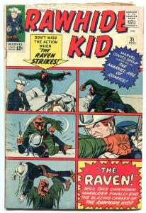 RAWHIDE KID #35 1963-MARVEL---THE RAVEN--JACK DAVIS ART VG