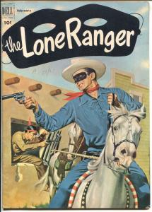 The Lone Ranger #44 1952-Dell-Blue Shirt issue-Tonto Silver-VF