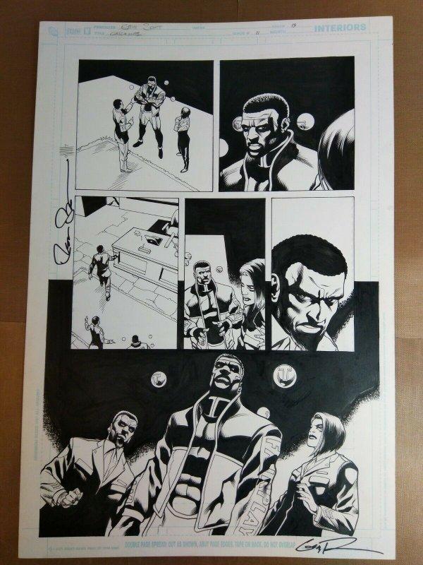 Original Art: Steve Scott & Nathan Massengill -  Checkmate #11 pg 13 (2007)