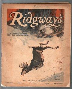 Ridgeway's #10 12/8/1906-Al Smith cover art-Joseph Conrad-pulp fiction-G
