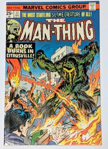 Man-Thing #17 (May 1975, Marvel) VF- 7.5 Steve Gerber story