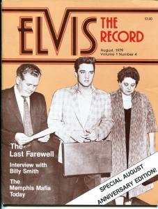 Elvis The Record #4 8/1979-Elvis fanzine-candid pix-FN