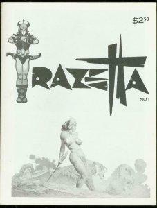 FRAZETTA #1 1969-THUNDA-SELF PORTRAIT-FANZINE-RARE VF