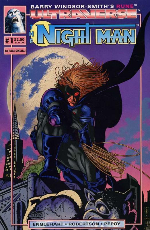 NIGHT MAN (1993 MA/UL) 1-13 spawns TV seriesTHE SET!