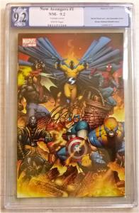 The NEW AVENGERS #1 Joe Quesada Variant (Marvel, 2005) Bendis & Finch - PGX 9.2