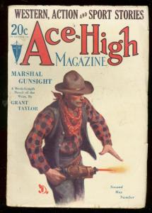 ACE-HIGH MAGAZINE 2nd MAY 1930-WESTERN & SPORTS PULP VG