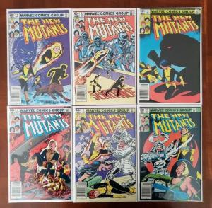 THE NEW MUTANTS 1, 2, 3, 4, 5, 6 (1983) MARVEL