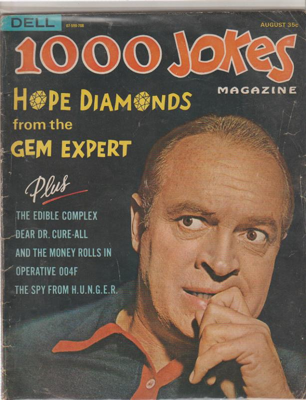 BOB HOPE -1000 JOKES MAGAZINE  #122 - 1967 - DELL - ADULT HUMOR