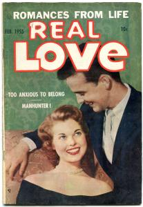 Real Love #66 1955- Ace Golden Age Romance- Manhunter FN-