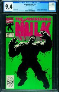 INCREDIBLE HULK #377-CGC 9.4 First Professor Hulk-unpressed 2014539001