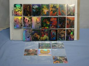 Lot Of 29 1996 Krome Holochrome CREED Comic Book Cards Inserts & Stickers L@@K