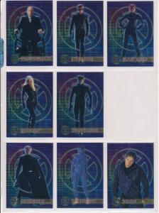 2000 Topps X-Men movie Chromium Insert Cards lot of 8, Wolverine, Storm,Toad etc