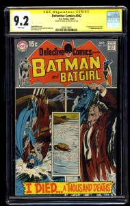 Detective Comics #392 CGC NM- 9.2 White Pages SS signed by Neal Adams!