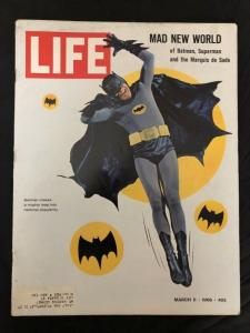 Life Magazine 3/11/1966-Adam West-Batman- VG